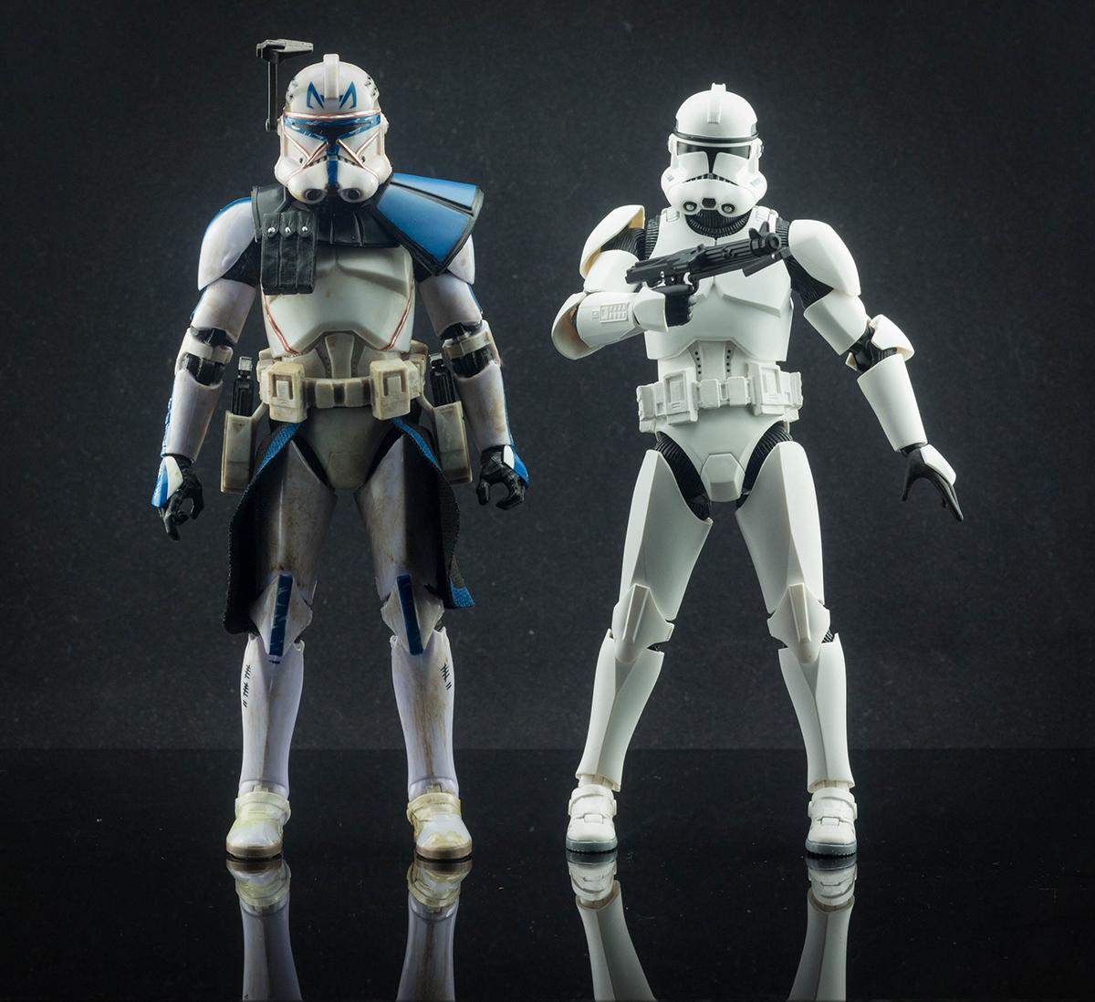 Figuarts Clone Trooper Phase Ii Vs Clone Captain Rex Toys